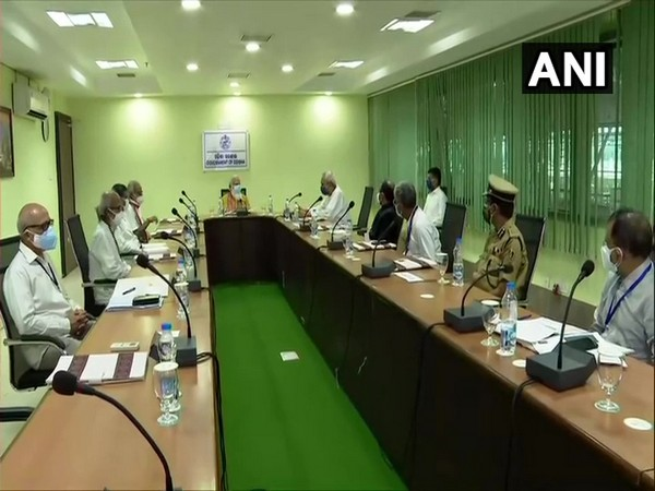 Prime Minister Narendra Modi holds meeting with Odisha CM Naveen Patnaik and others. (Photo/ ANI)