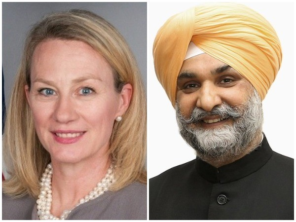 Senior US Diplomat Alice Wells on Friday welcomed Taranjit Singh Sandhu, India's new Ambassador to the United States. (credit: Alice Wells Twitter)