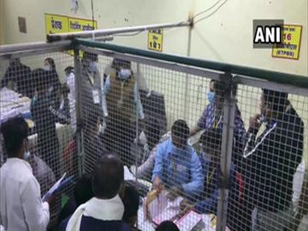 Visual from a counting centre in Gwalior. (Photo/ANI)