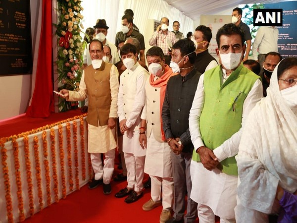 Madhya Pradesh Chief Minister Shivraj Singh Chouhan inaugurated Super speciality hospital in Indore on Friday. (Photo/ANI)