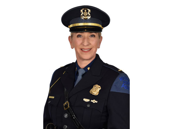 Michigan State Police spokesperson Michelle Robinson (Photo credit: Twitter/Michigan State Police)