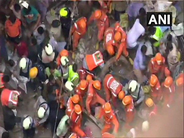 The security forces called off rescue operations after removing the debris from Dongri building collapse site in Mumbai on Wednesday. Photo/ANI