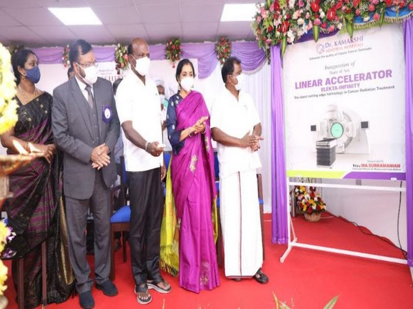 TN Minister for Medical & Family Welfare Ma. Subramanian inaugurates Elekta Infinity - Linear Accelerator Cancer Radiotherapy equipment at Dr. Kamakshi Memorial Hospitals, Chennai recently