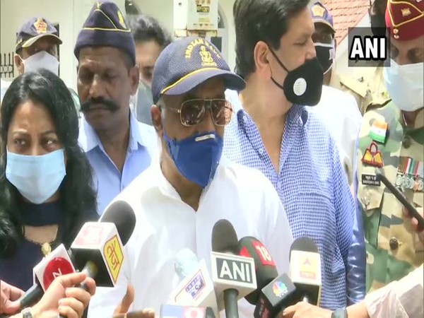 Madan Sharma, retired Navy officer, speaking to media on Tuesday in Mumbai.