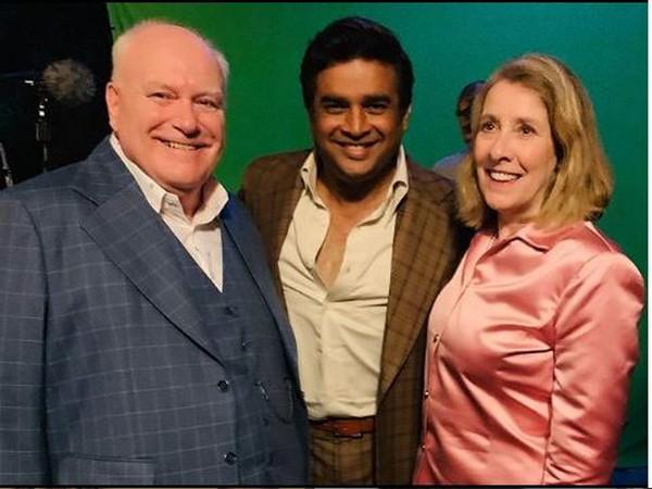 Ron Donachie, R Madhavan and Phyllis Logan, Picture courtesy: Instagram