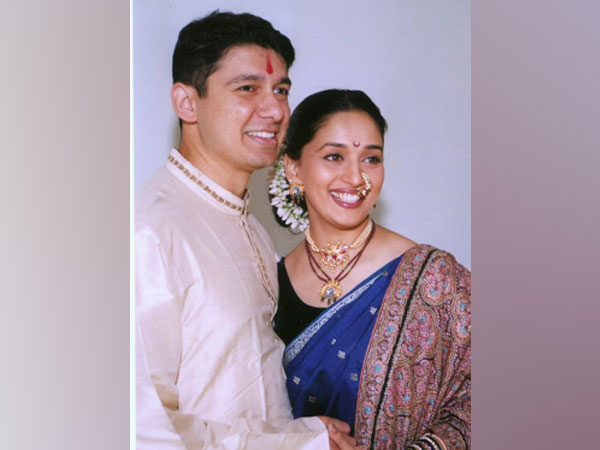 Actor Madhuri Dixit Nene with husband Sriram Nene (Image Source: Instagram)
