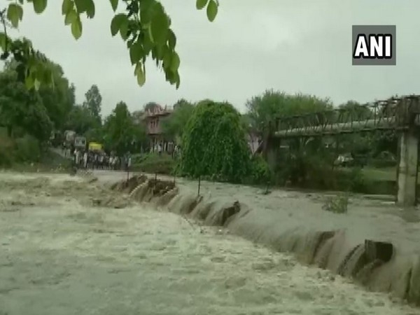 Rivers overflowed in Dewas district on Friday due to heavy rainfall (Photo/ANI)