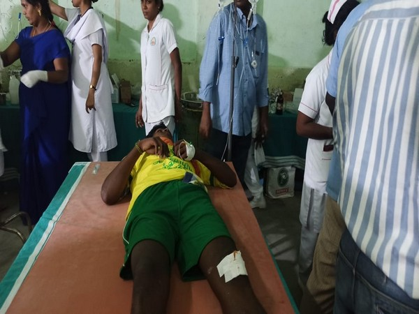 One of the injured participants during Jallikattu being treated at a hospital in Madurai on Wednesday. Photo/ANI
