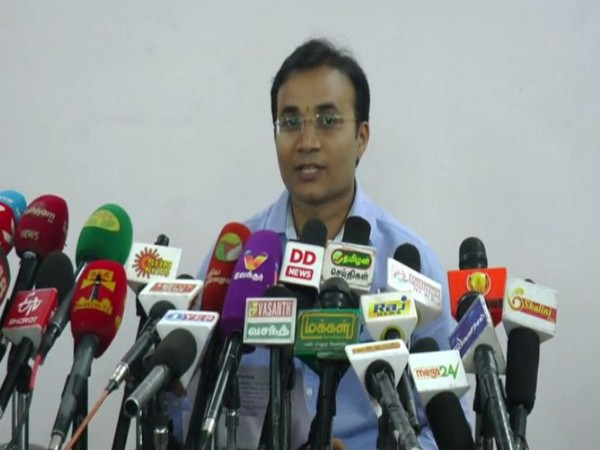 Madurai District Collector, TG Vinay speaking at a press conference on Wednesday. Photo/ANI