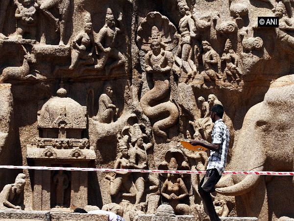 A historical site at Mahabalipuram.