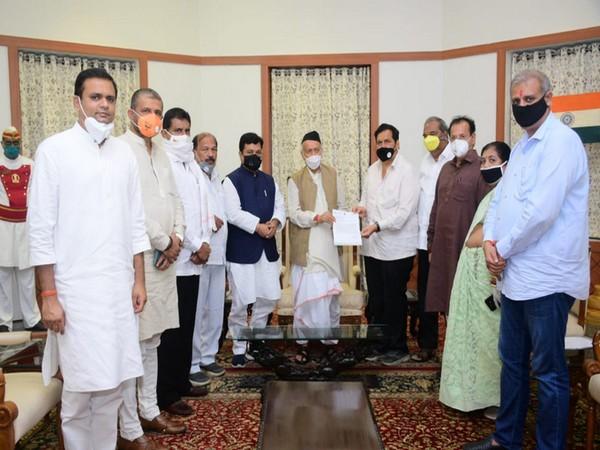 A BJP delegation including party's Mumbai chief Mangal Prabhat Lodha met Governor Bhagat Singh Koshyari on Monday.
