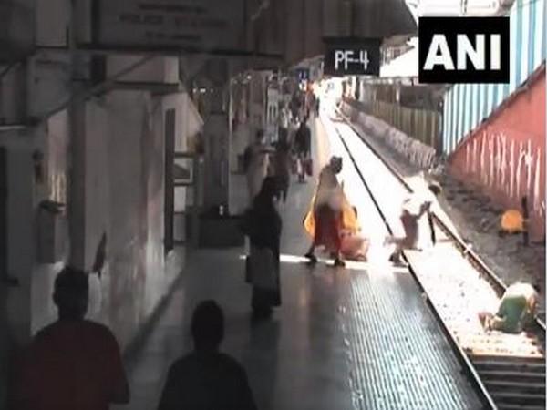 CCTV footage's visual