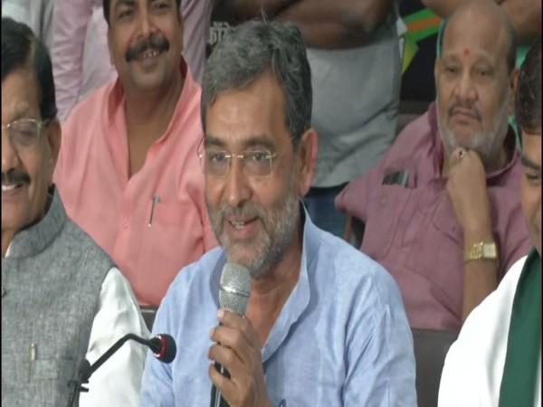 Rashtriya Lok Samta Party (RLSP) leader Upendra Kushwaha at a press conference in Patna. Photo/ANI
