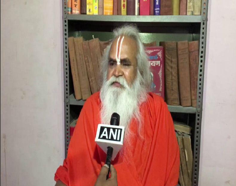 Ram Vilas Vedanti talking to ANI in Ayodhya on Monday. (Photo/ANI)