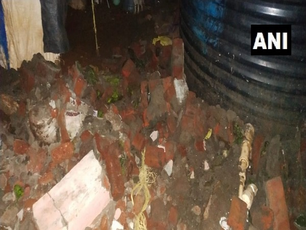 Visual of the wall that collapsed. (Photo/ANI)