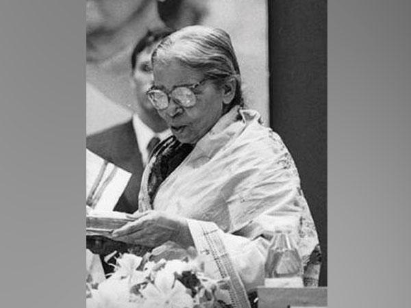 Mahasweta Devi [Photo/ANI]