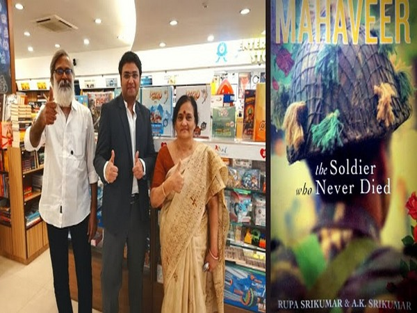Authors of 'Mahaveer: The Soldier who never died' - AK Srikumar & Rupa Srikumar with Suhail Mathur, Founder of The Book Bakers Literary Agency