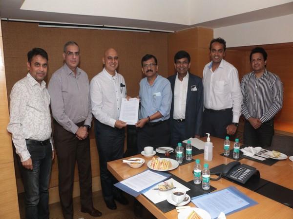 Representatives of major theatre chains with Shiv Sena leader Sanjay Raut