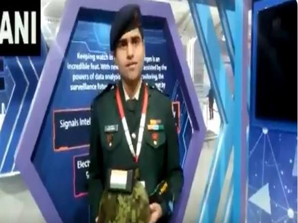 Major Anoop Mishra showcases 'Parth' gun shot locator