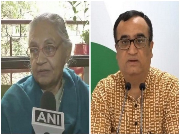 DPCC chief Sheila Dikshit, left, and Congress leader Ajay Maken