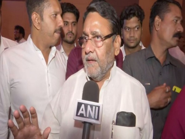 NCP spokesperson Nawab Malik speaking to ANI in Mumbai on Sunday. Photo/ANI