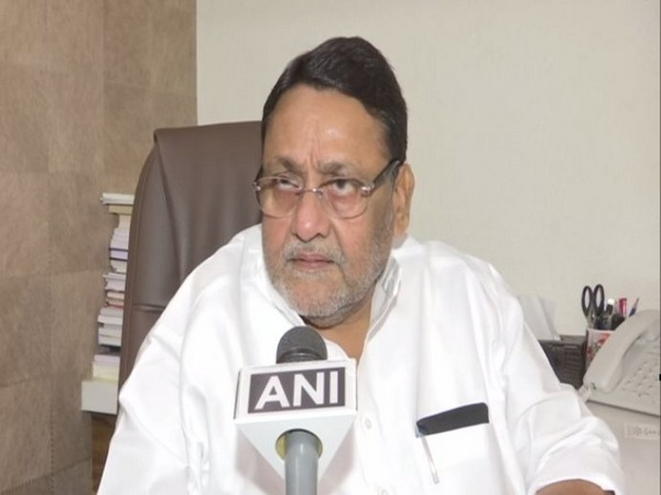 Maharashtra Skill Development Minister Nawab Malik speaking to ANI in Mumbai on Wednesday. Photo/ANI