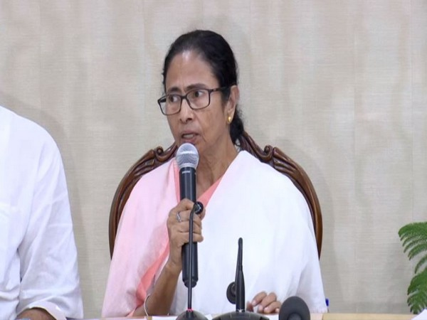 Chief Minister Mamata Banerjee during the press conference on Tuesday. Photo/ANI
