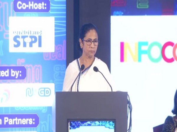 West Bengal Chief Minister Mamata Banerjee speaking at an event in Kolkata on Thursday. Photo/ANI