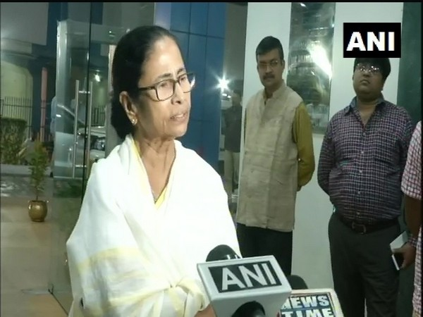 West Bengal Chief Minister Mamata Banerjee speaking to reporters in Howrah on Thursday. Photo/ANI