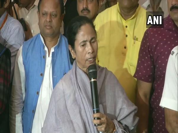 Trinamool Congress chief Mamata Banerjee speaking in Kolkata on Tuesday. (Photo/ANI)