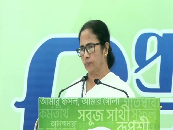 West Bengal CM Mamata Banerjee addressing a virtual rally on the foundation day of TMCP (Trinamool Chhatra Parishad) in Kolkata on Friday. [Photo/ANI]