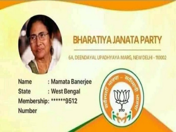 TMC has strongly objected to a picture showing West Bengal Chief Minister Mamata Banerjee subscribing to BJP membership.