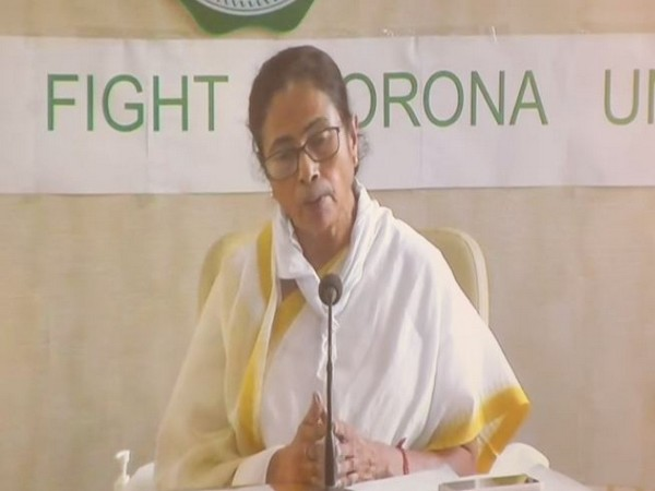 West Bengal Chief Minister Mamata Banerjee speaking at a press conference on Wednesday. Photo/ANI