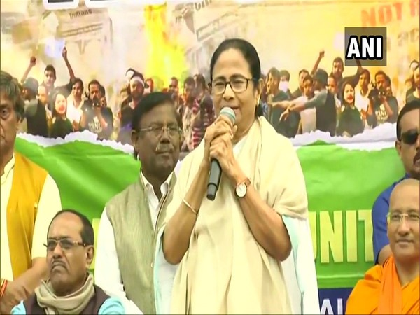 West Bengal Chief Minister Mamata Banerjee addressing a rally in Kolkata on Thursday.