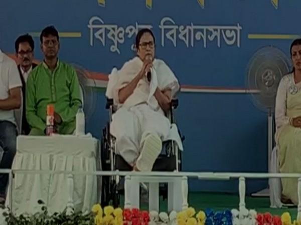 West Bengal Chief Minister Mamata Banerjee speaking in Bishnupur on Wednesday.