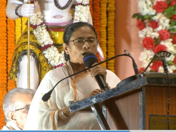 West Bengal Chief Minister Mamata Banerjee speaking at an event organised by the Bharat Sevashram on Thursday. (Photo/ANI