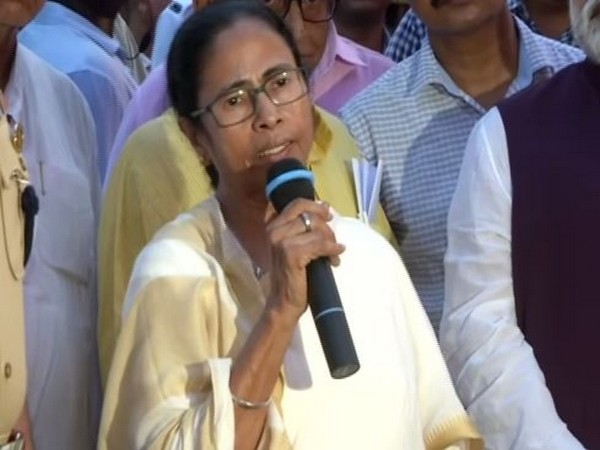West Bengal Chief Minister Mamata Banerjee speaking to media persons in Kolkata on Monday. (Photo/ANI)