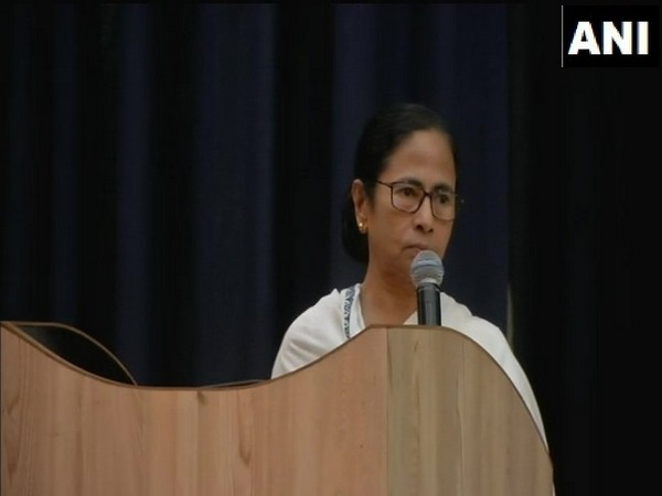 Chief Minister Mamata Banerjee addressing TMC councillors in Kolkata, West Bengal on Tuesday. Photo/ANI