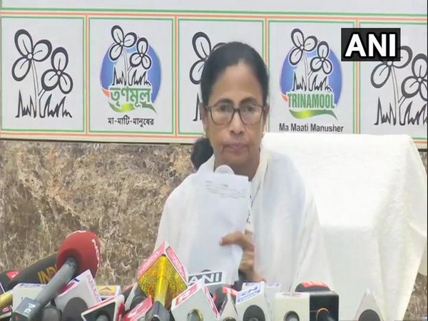 West Bengal Chief Minister Mamata Banerjee at a press conference in Kolkata on Wednesday.