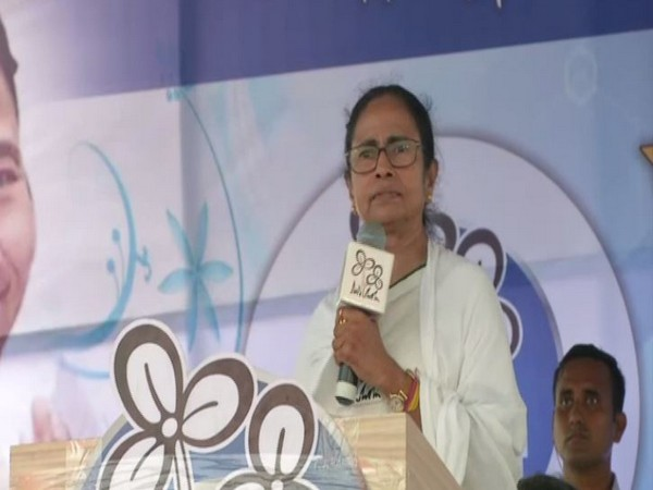 West Bengal Chief Minister Mamata Banerjee addressing a public rally in Diamond Harbour on Thursday.