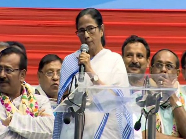 West Bengal Chief Minister Mamata Banerjee addressing the event in Kolkata on Friday. (Photo/ANI)