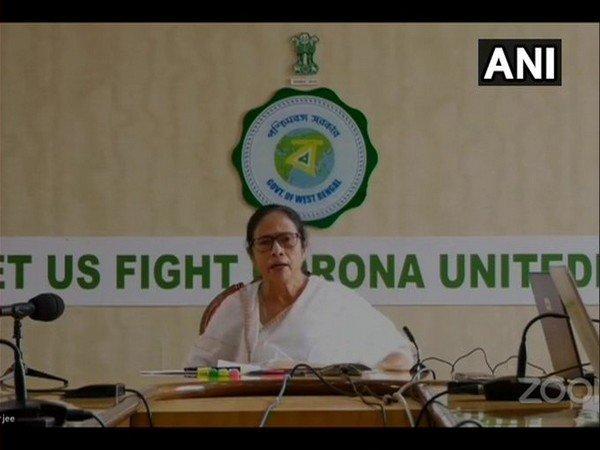West Bengal CM Mamata Banerjee speaking at the virtual meeting held on Wednesday. Photo/ANI