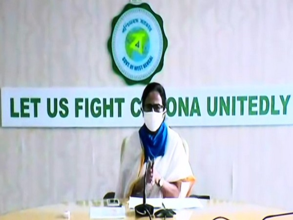 West Bengal Chief Minister Mamata Banerjee speaking at a video conference on Monday. Photo/ANI