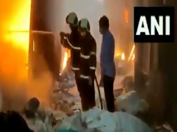 Visuals of a level-3 fire that broke out at a scrap godown in Mandala on Mankhurd-Ghatkopar Link Road on Tuesday.