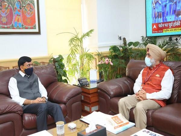 Union Health Minister Mansukh Mandaviya met with the Indian ambassador to the United States Taranjit Singh Sandhu