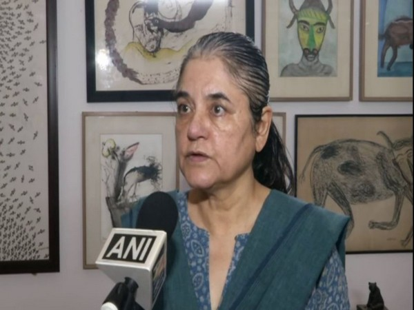 BJP leader and animal rights activist Maneka Gandhi speaking to ANI in New Delhi on Wednesday. Photo/ANI
