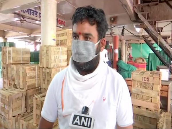 Balraj Bhosle, a wholesale dealer of mangoes, speaking to ANI. Photo/ANI
