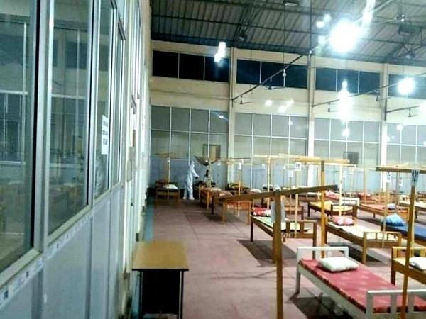 COVID care centre in Imphal. (Image courtesy: @NBirenSingh)