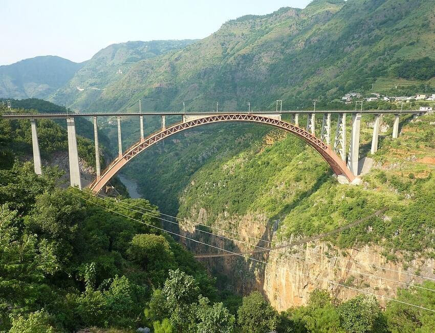 Under construction railway line in Manipur