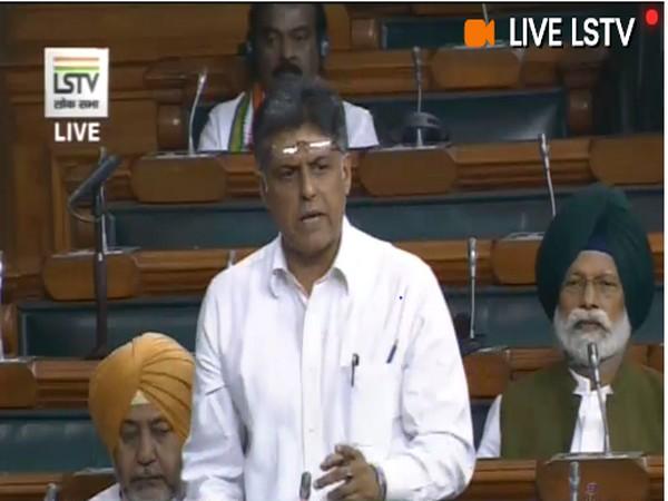 Manish Tewari (Picture Courtesy - Lok Sabha TV)